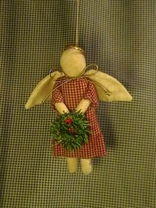 Thrifted Tree Ornament Angel